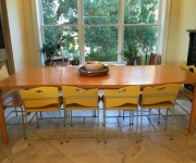 Nula's table and seats.