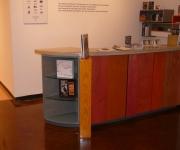 Halsey's Reception Desk.